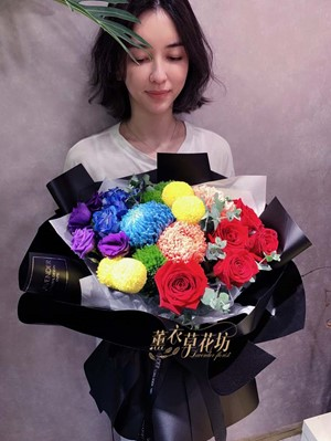 彩虹花束設計108052509