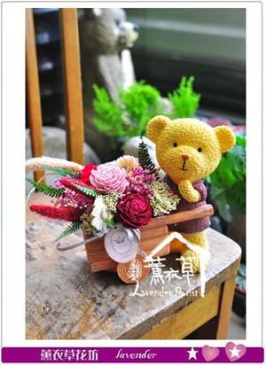熊熊乾燥花~設計 106092703-缺貨