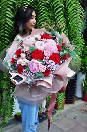 牡丹花束設計 108080705