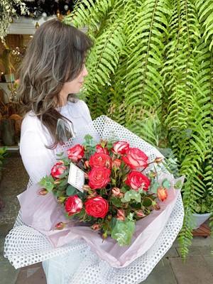 荷蘭進口~桃色庭園玫瑰花束 108071708