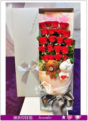 缺貨-歐式玫瑰花盒a071305