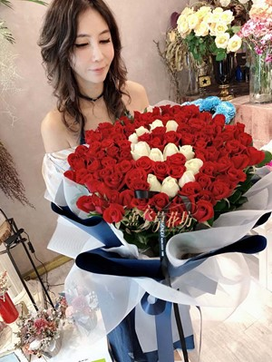 100朵玫瑰花束 /求婚/告白/節日/生日/ 108021505