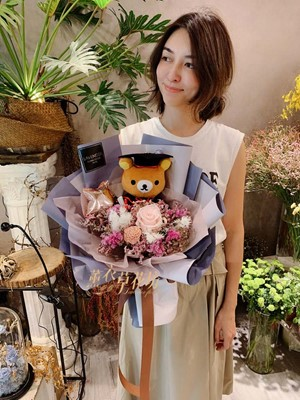 畢業拉拉熊花束108062011