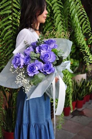 荷蘭空運~紫月玫瑰花花束~情人節限定108080215